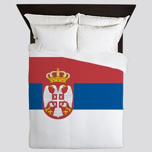 Serbian flag Queen Duvet