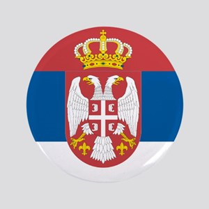 "Serbian flag 3.5"" Button"