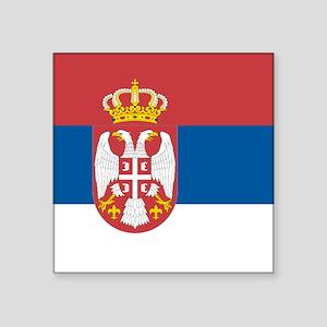 "Serbian flag Square Sticker 3"" x 3"""