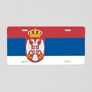 Serbian flag Aluminum License Plate