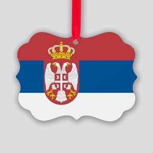 Serbian flag Picture Ornament