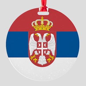 Serbian flag Round Ornament