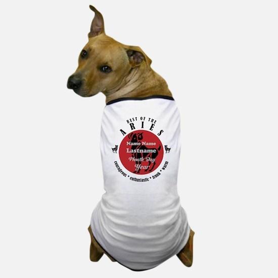 Custom Text Aries Horoscope Zodiac Sign Dog T-Shir