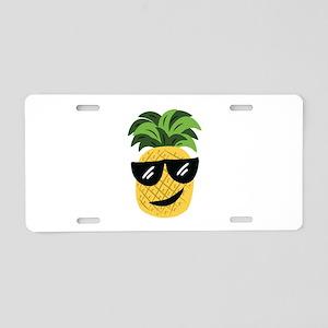 Funky Pineapple Aluminum License Plate