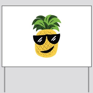 Funky Pineapple Yard Sign