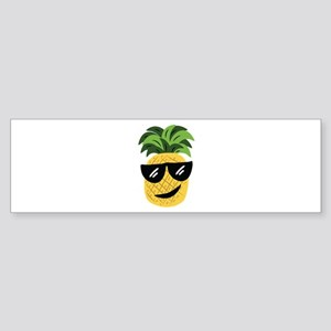 Funky Pineapple Bumper Sticker