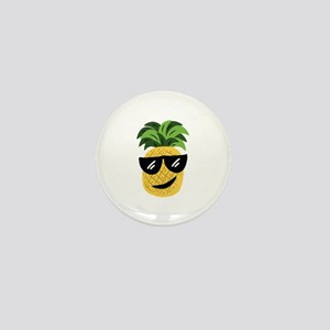 Funky Pineapple Mini Button