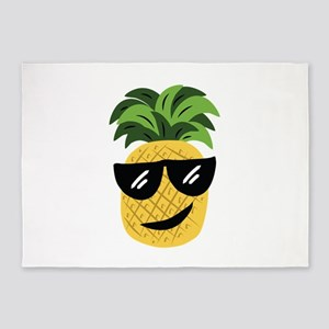 Funky Pineapple 5'x7'Area Rug