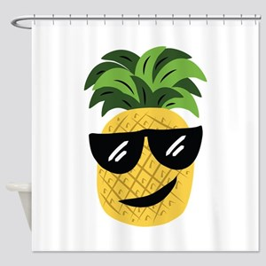 Funky Pineapple Shower Curtain