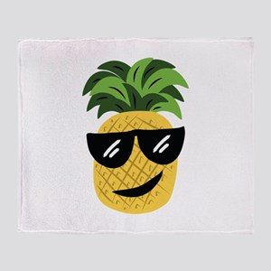 Funky Pineapple Throw Blanket