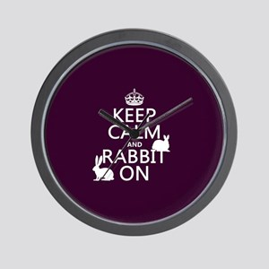 Keep Calm and Rabbit On Wall Clock