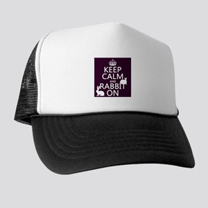 Keep Calm and Rabbit On Hat
