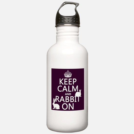Keep Calm and Rabbit On Sports Water Bottle