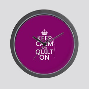 Keep Calm and Quilt On Wall Clock