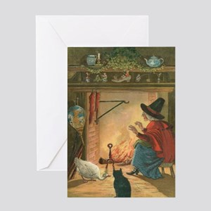 Witch and Friends Greeting Card