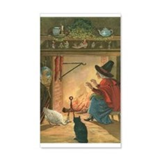 Witch and Friends Wall Decal