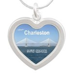 Charleston Silver Heart Necklace