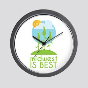 Midwest Is Best Wall Clock