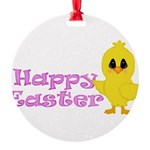 Happy Easter Chick Ornament