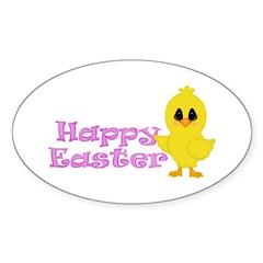 Happy Easter Chick Decal