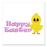 Happy Easter Chick Square Car Magnet 3
