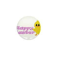 Happy Easter Chick Mini Button (100 pack)