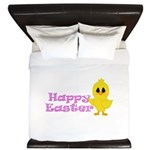 Happy Easter Chick King Duvet