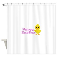 Happy Easter Chick Shower Curtain