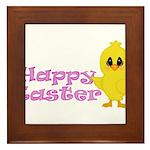 Happy Easter Chick Framed Tile