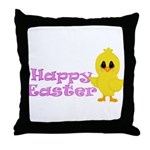 Happy Easter Chick Throw Pillow