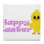 Happy Easter Chick Tile Coaster