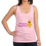 Happy Easter Chick Racerback Tank Top