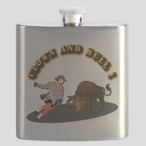 Clown and Bull 1-With-Text Flask