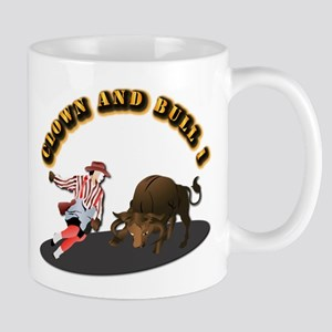 Clown and Bull 1-With-Text Mug