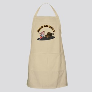 Clown and Bull 1-With-Text Apron