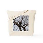 Winter Maple Island Bald Eagle Tote Bag