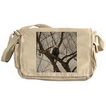 Winter Maple Island Bald Eagle Messenger Bag