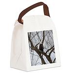 Winter Maple Island Bald Eagle Canvas Lunch Bag