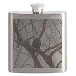 Winter Maple Island Bald Eagle Flask