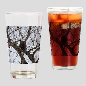 Winter Maple Island Bald Eagle Drinking Glass