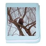 Winter Maple Island Bald Eagle baby blanket