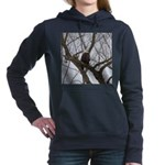 Winter Maple Island Bald Eagle Women's Hooded Swea