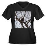 Winter Maple Island Bald Eagle Plus Size T-Shirt