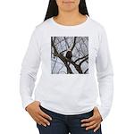 Winter Maple Island Bald Eagle Long Sleeve T-Shirt