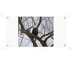 Winter Maple Island Bald Eagle Banner