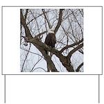 Winter Maple Island Bald Eagle Yard Sign