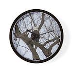 Winter Maple Island Bald Eagle Wall Clock