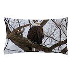 Winter Maple Island Bald Eagle Pillow Case