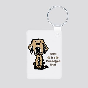Love Is A Four Legged Word Keychains