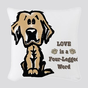 Love Is A Four Legged Word Woven Throw Pillow